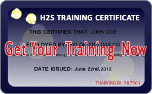 H2S Awareness Certification Card